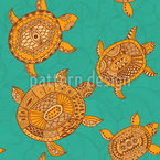Turtle Seamless Vector Pattern Design