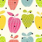 アップルラブ シームレスなベクトルパターン設計