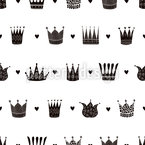 Crown Seamless Vector Pattern