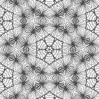 Spiderweb Stars Seamless Vector Pattern Design