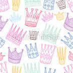 Rei e Rainha Design de padrão vetorial sem costura