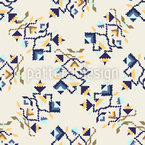 Pixelated Vines Seamless Vector Pattern Design