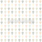 Delicate Mushrooms Seamless Vector Pattern