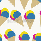 Minimalistic Ice Cream Cones Vector Design