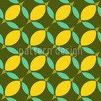 Stylized Lemon Repeat Pattern