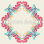 Abstract Rhombic Line Seamless Vector Pattern Design