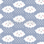 Dreaming Rainy Clouds Pattern Design