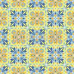 Symmetrische Retro Fliese Nahtloses Vektor Muster
