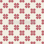 Pixelated Blossom Seamless Vector Pattern Design