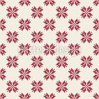 Pixelige Blüte Nahtloses Vektormuster