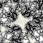 Abstrakte Tulpe Nahtloses Vektormuster