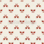 Twin Flowers Seamless Vector Pattern Design