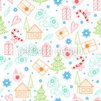 Weihnachtsfeiertage Nahtloses Vektormuster