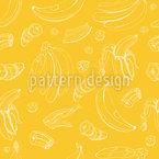 Bananen In Allen Facetten Nahtloses Vektormuster