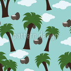 Coconut Tree Repeating Pattern