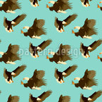 Eagles Seamless Vector Pattern Design