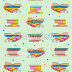 Books Seamless Vector Pattern Design