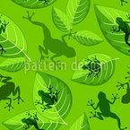 Frösche Auf Blättern Vektor Ornament