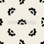 Half Shaped Flowers Seamless Vector Pattern Design
