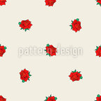 Rotating Rose Seamless Vector Pattern Design