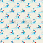 Surfing Anchors Seamless Vector Pattern Design