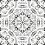 Symmetrisches Netzwerk Nahtloses Vektormuster