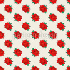In Love With Roses Seamless Vector Pattern Design