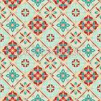 Rhombic Retro Tiles Seamless Vector Pattern Design