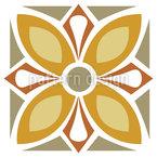 Blossom Tile Seamless Vector Pattern Design
