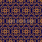 Einfache Marokkanische Blume Muster Design