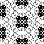 Monochrome Moroccan Flower Pattern Design