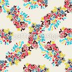 Formen Bilden Eine Matrix Nahtloses Muster