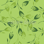 Tropical Spring Blossom Seamless Vector Pattern Design