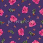 Elegancia Rosy Estampado Vectorial Sin Costura