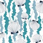 贝壳和海藻 无缝矢量模式设计