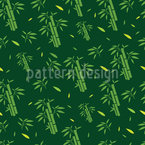 Asian Bamboo Seamless Vector Pattern Design