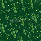 Asiatischer Bambus Nahtloses Vektor Muster