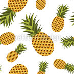 Pineapple Love Vector Pattern