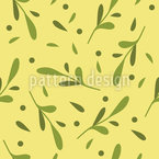 Mistletoe Autumn Seamless Vector Pattern Design
