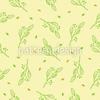 Twigs In Spring Wind Seamless Vector Pattern Design