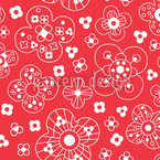 Catherine Red Repeating Pattern