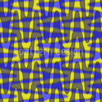 Wavy Square Seamless Vector Pattern Design
