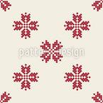 Geometrischer Schnee Muster Design