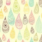 装飾水滴 シームレスなベクトルパターン設計