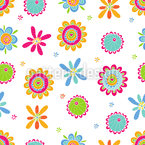Flower Of Happiness Seamless Pattern