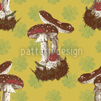 Lucky Mushrooms Pattern Design