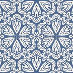 Arabescos Hexagonais Design de padrão vetorial sem costura