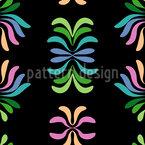 彩色叶 无缝矢量模式设计