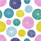 Doodled Circles Seamless Vector Pattern Design