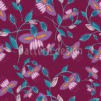 Gebogene Linie Florals Vektor Design